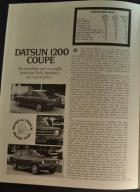 Datsun 1200 Coupe Road Test 2/4