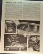 Datsun 1200 Coupe Road Test 4/4
