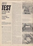 AUTO TEST: DATSUN 1200 ESTATE 1/4