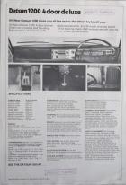 Datsun 1200 4 door deluxe