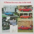 &#039;A Datsun for every day in the week&#039; brochure