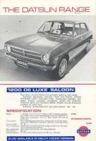 """The Datsun Range"" UK brochure 1971"